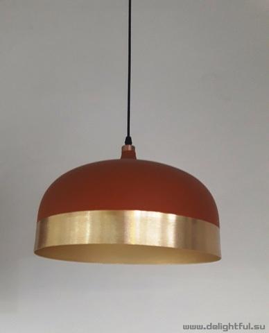 replica Innermost Glaze Pendant - Cream & Charcoal ( wide + red )