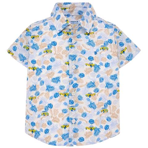 Рубашка Mayoral тропическая с коротким рукавом