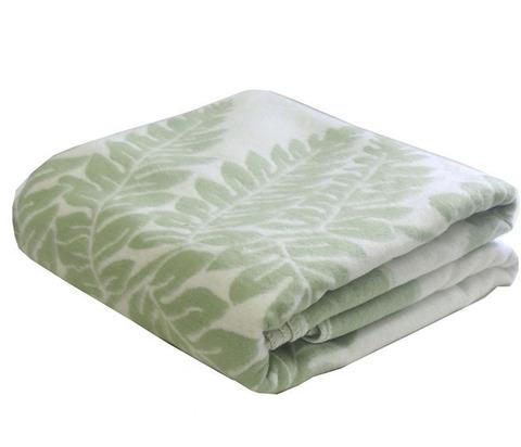 Одеяло байковое Премиум Папоротник