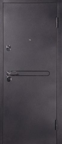 Дверь входная L-3 замок RNB стальная, лен белый, 2 замка, фабрика Арсенал