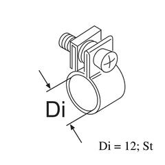 Хомут d=12 (металл)