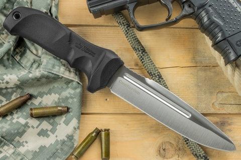 Тактический нож Centurion AUS-8 Satin Черные Ножны