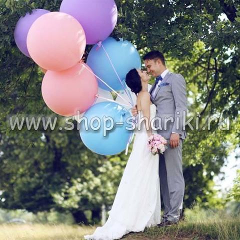 Большие шары на свадьбу