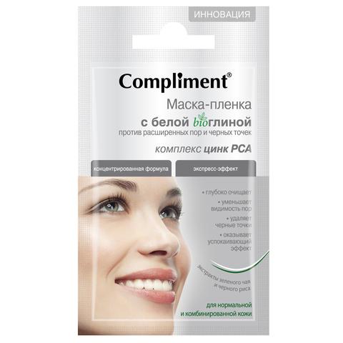 Compliment Маска-пленка c белой bio глиной  против расширенных пор и черных точек