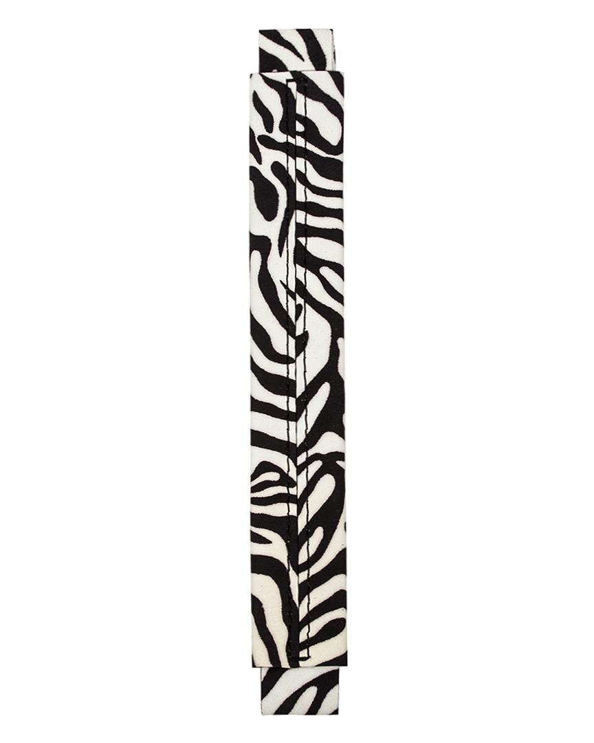 Сменная ручка из нубука с принтом зебры