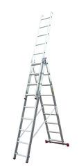 Трехсекционная универсальная лестница CORDA 3х8