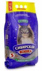 Наполнитель для длинношерстных кошек, Сибирская Кошка, комкующийся, Супер 5л