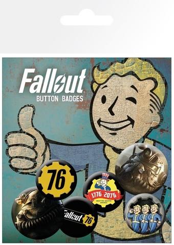 Набор значков Fallout 76