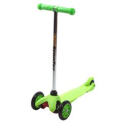 21st Scooter Детский самокат 3-х колёсный (кикборд), зеленый (SKL-06A-Green)