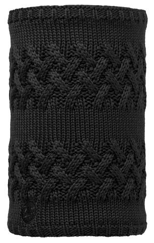 Вязаный шарф-труба с флисом Buff Savva Black