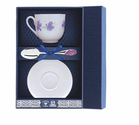 Набор чайный «Ландыш-Сиреневые цветы» 3пр.