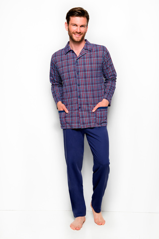 Мужская пижама 8W Gracjan 1008-1009-788 Dark Blue Taro