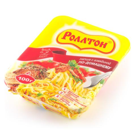 """Лапша быстрого приготовления Роллтон """"Говядина по-домашнему"""" 90г лоток"""