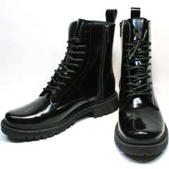 Черные зимние ботинки женские Ari Andano 740 All Black.