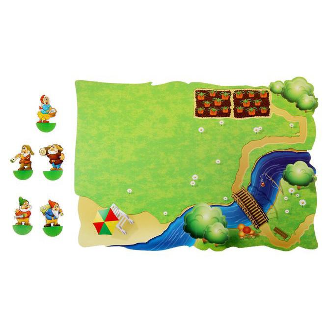 Игровое поле для конструктора Домик из маленьких брёвнышек