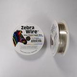 Проволока серебристая с медным сердечником Zebra Wire, 0,81 мм, посеребренная, 13 м