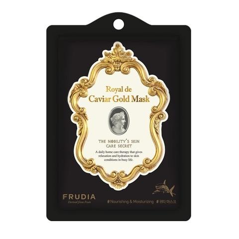 Омолаживающая маска с экстрактом икры и золотом FRUDIA Royal de Caviar Gold Mask (1шт)