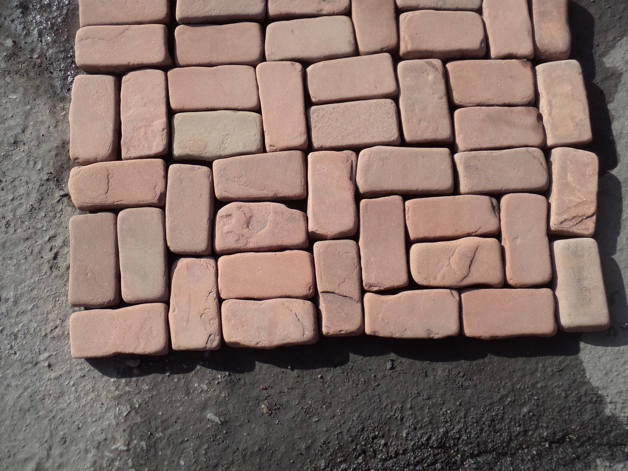 брусчатка песчаник галтованный Красная Площадь, пример кладки