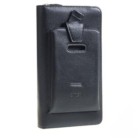 Стильный мужской чёрный клатч из натуральной кожи ANDI 7M168