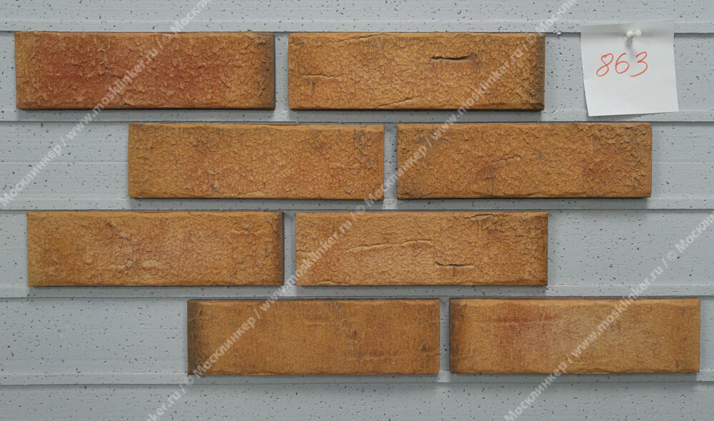 Клинкерная плитка под кирпич Roben, Aarhus, цвет rot-bunt