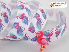 Лента репсовая Фламинго ширина 25 мм (намотка 10 м)