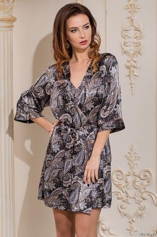 Короткий халат – кимоно Mia-Amore 3123 DONATELLA (70% шелк)