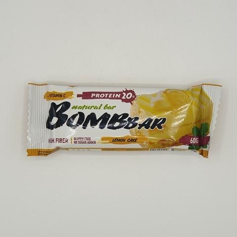 Батончик Natural Bar вкус Лимонный торт BOMBBAR, 60 гр