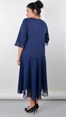 Касандра. Праздничное платье плюс сайз. Синий.