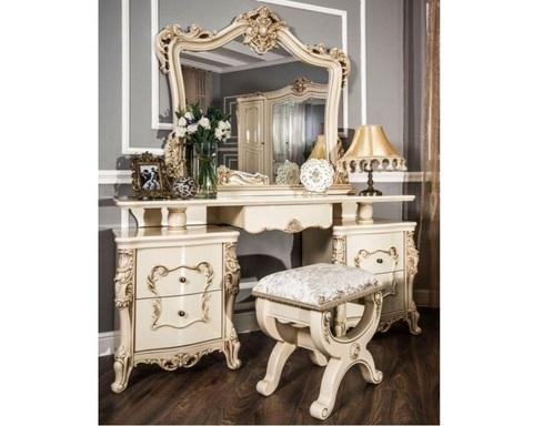 Туалетный столик ОДЕЛИЯ с пуфиком и зеркалом