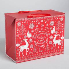 Пакет—коробка «Волшебство праздника», 28 х 20 х13 см