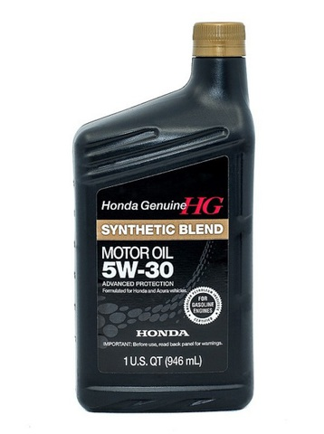 HONDA Synthetic Blend 5W30 SN Масло моторное полусинт. SN, GF-5 (пластик/США)