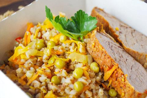 овощи и гречка ПП питание