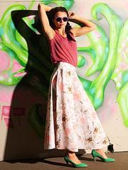 U1411-2z юбка женская. розовая