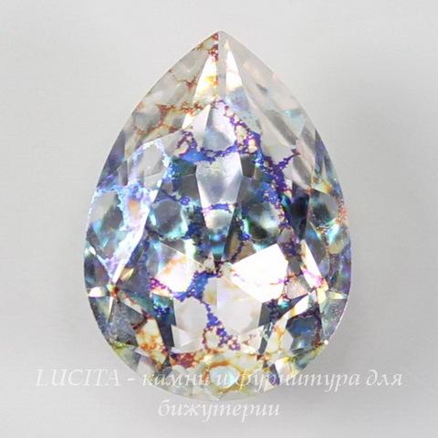 4320 Ювелирные стразы Сваровски Капля Crystal White Patina (18х13 мм) ()