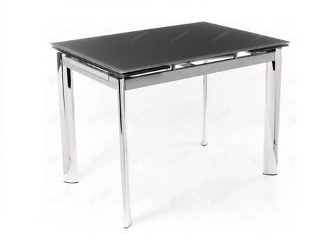 Стол обеденный S-302T раскладной стеклянный прямоугольный серый
