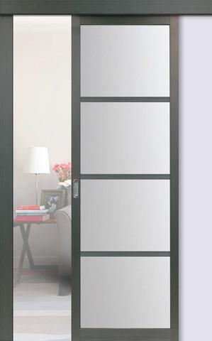 Перегородка межкомнатная Optima Porte 104.2222, стекло матовое, цвет венге, остекленная (за 1 кв.м)
