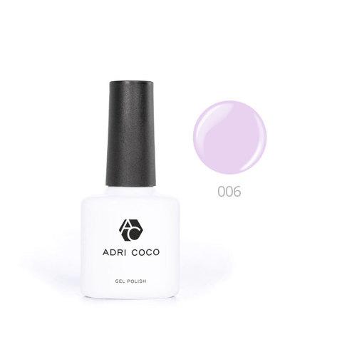 Цветной гель-лак ADRICOCO №006 нежно-лиловый (8 мл.)