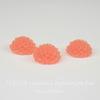 """Кабошон акриловый """"Хризантема"""", цвет - коралловый, 10 мм"""