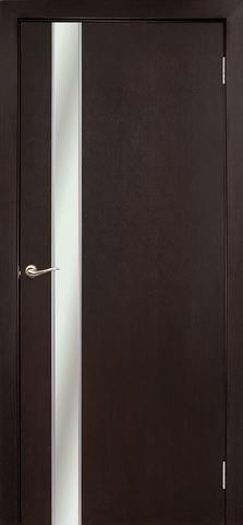Дверь Дубрава Сибирь Маэстро, зеркало с рисунком/молдинг серебро, цвет венге, остекленная