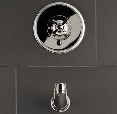 Grafton Cross-Handle Balanced Pressure Tub & Shower Valve & Trim Set with Bath Spout