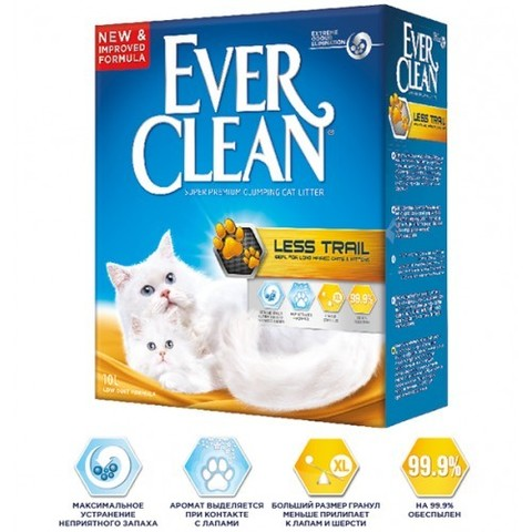 Наполнитель Ever Clean Less Track/Less Trail 10 л