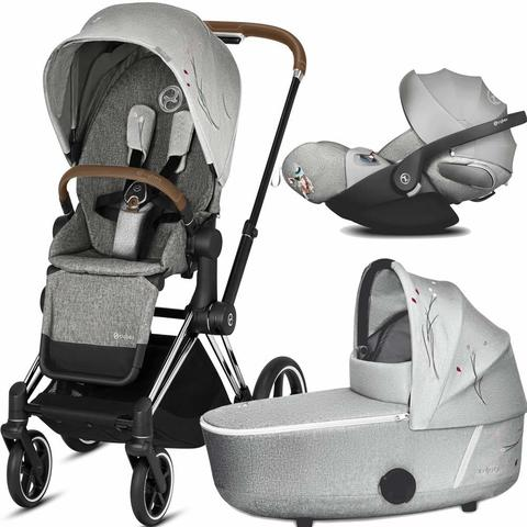 Коляска 3 в 1 Cybex Priam III Koi Crystallized