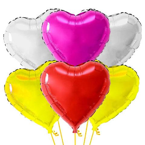 Букет из Воздушных шаров Сердец