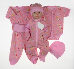 Набор одежды для новорожденного в роддом 6 предметов