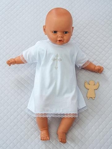 Рубашка для крещения младенца белая