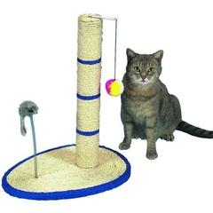 Уют когтеточка -стойка с мячом, мышь на пружине 40*30*51 см