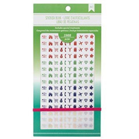 Блокнот со стикерами для ежедневника American Crafts