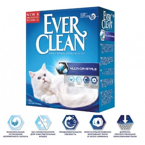 Наполнитель Ever Clean Multi-Crystals 10 л