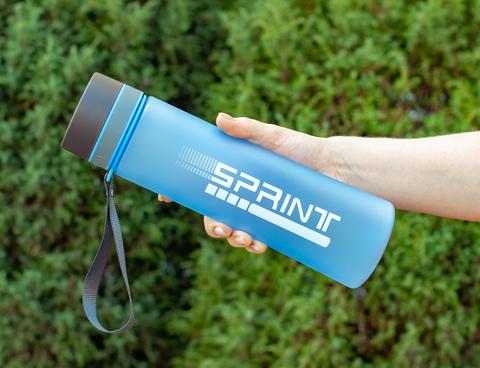 Бутылка POWCAN - 1000 мл. SPRINT матовая - Синий