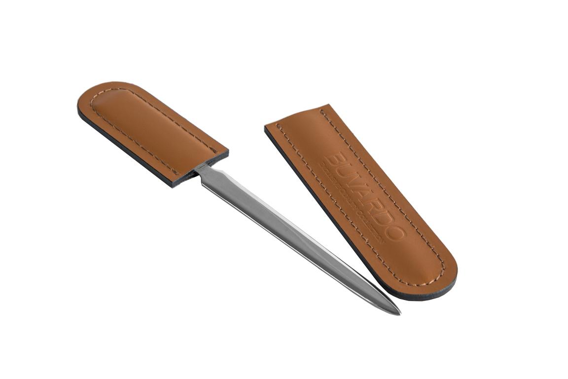 нож канцелярский табак/шоколад кожаный